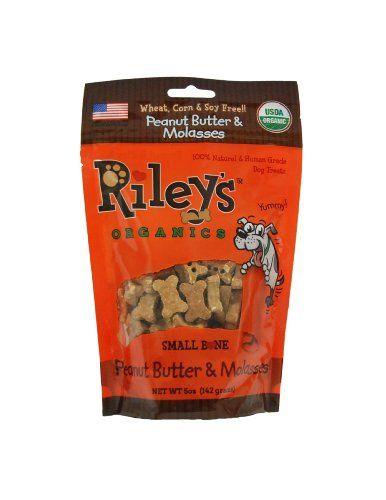 Organics trata de mantequilla de manГ y Melaza de Riley para perros