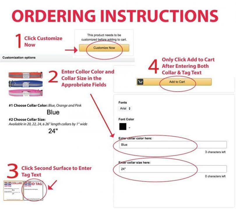 Slide-On identificación del animal doméstico Etiquetas por GoTags las instrucciones de pedido