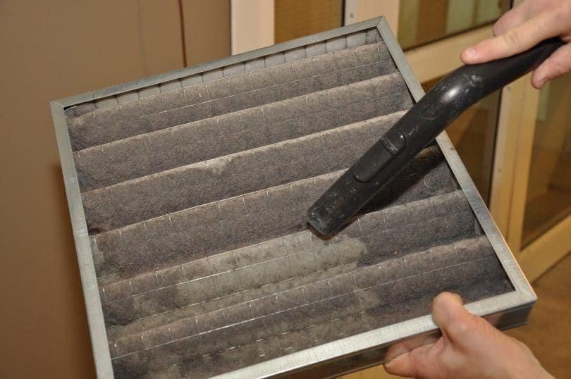 Limpieza de los filtros de aire