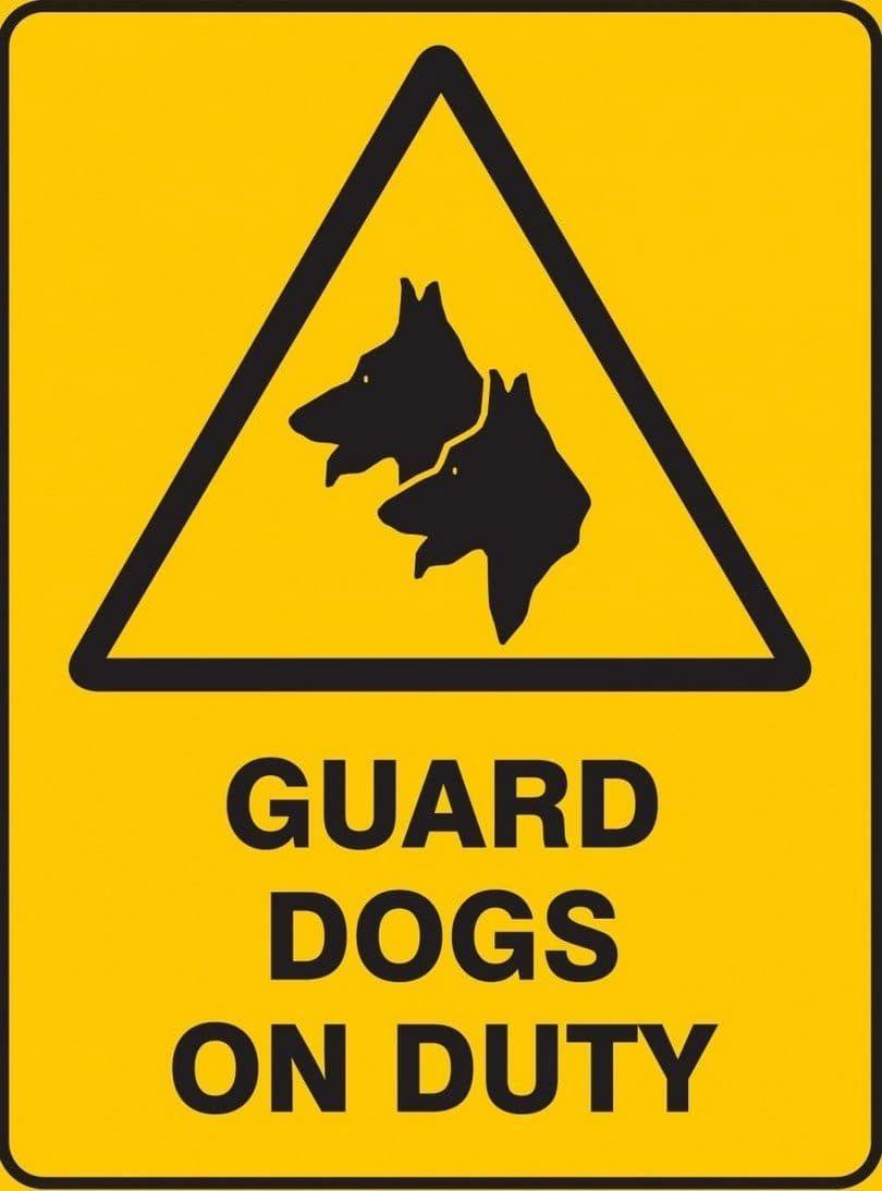 perros de guardia en muestra de deber
