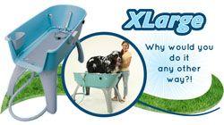 El mejor baГ±o del animal domГ©stico para los perros Extra Grande Booster perro lavaderos