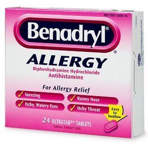 Puedo dar a mi perro benadryl?