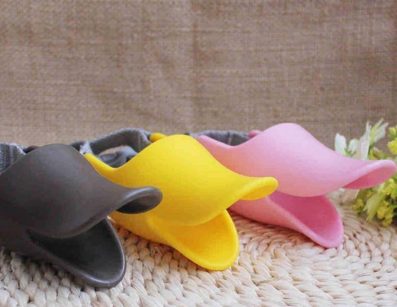 Pecute protección animal doméstico del perro de silicona de pico de pato Diseño