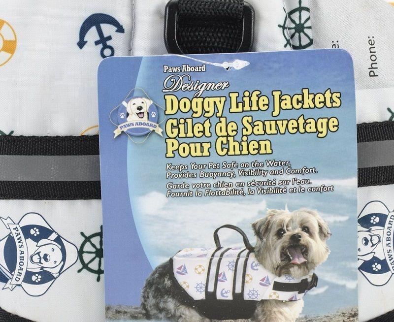 A bordo de las patas de 7-15 libras perro Chaleco salvavidas Extra Pequeño náutico