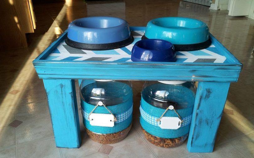 estación de alimentación de bricolaje para mascotas