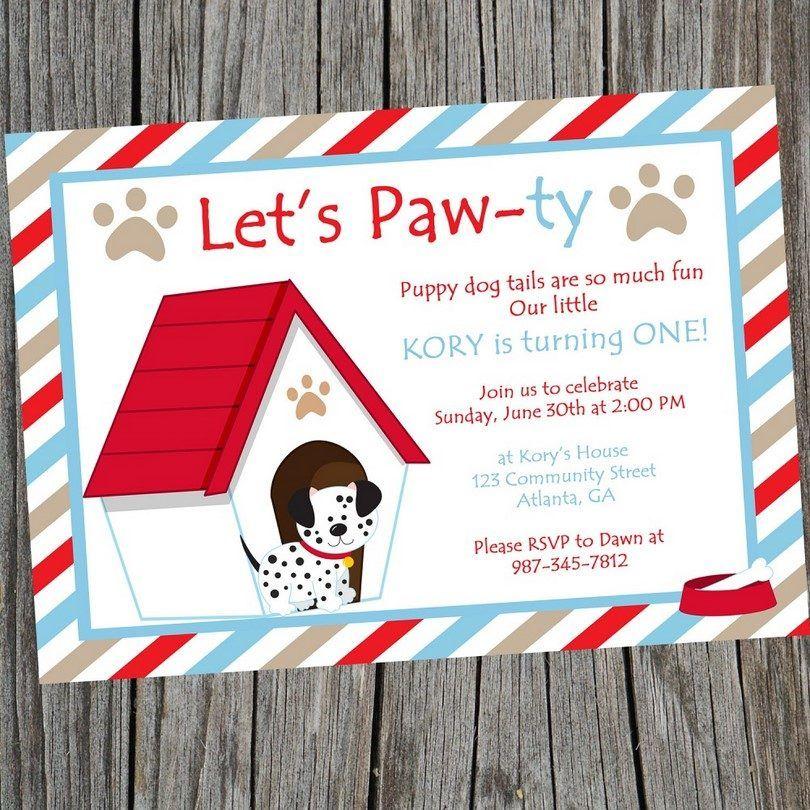 invitación a una fiesta de perro