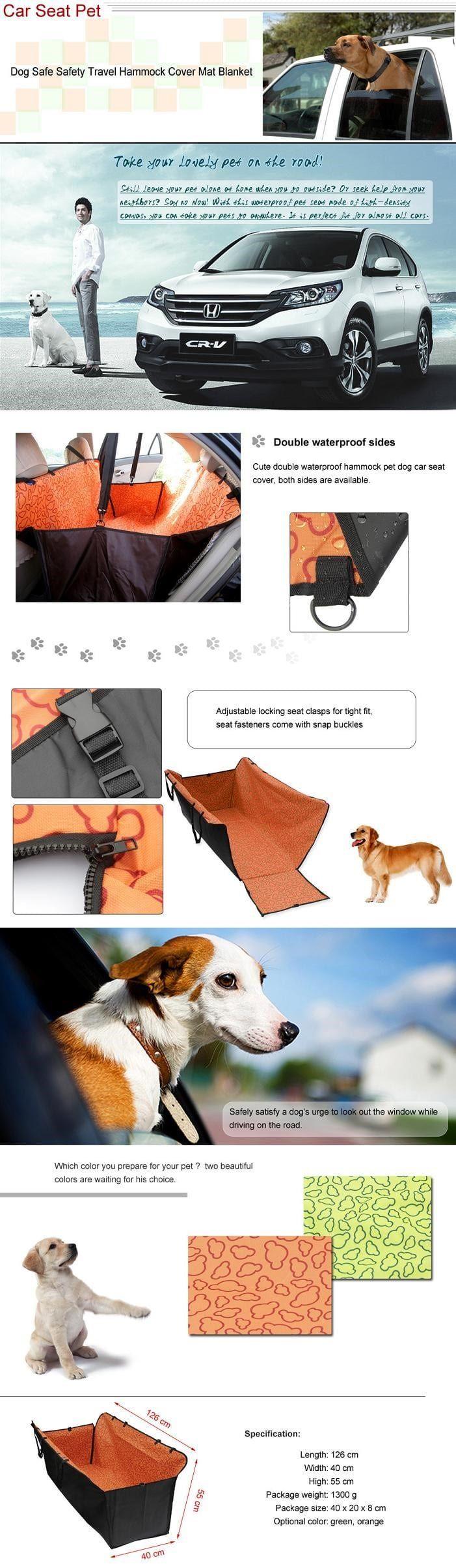 asiento de coche del perro