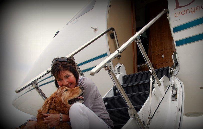 Volar con el perro