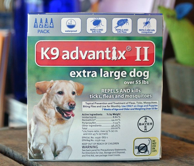 Bayer Advantix II, perros muy grandes