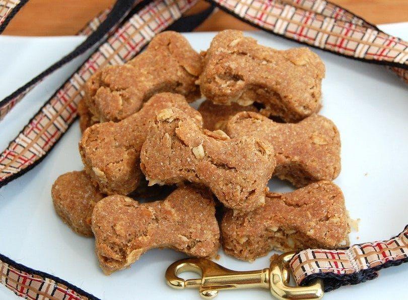 las galletas de mantequilla de maní para perros
