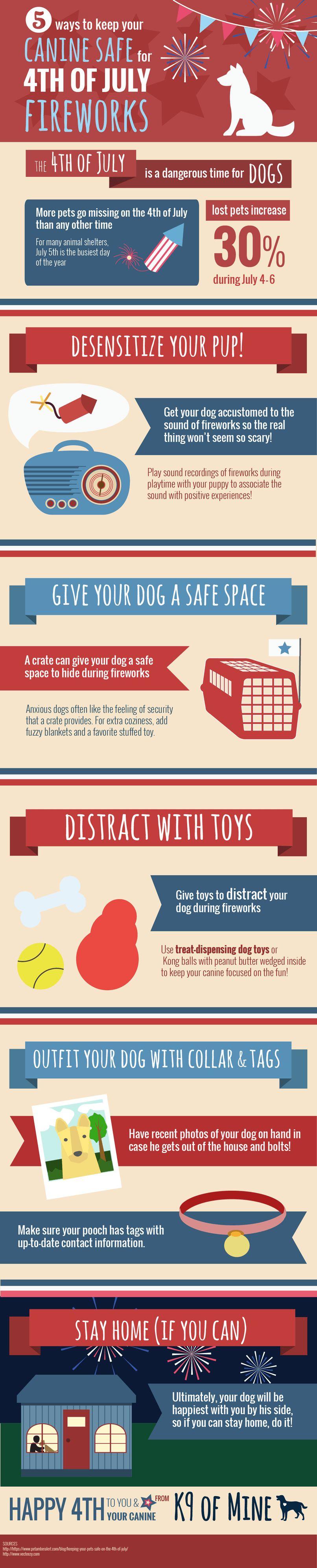 Cómo mantener su perro seguro para el 4 de julio de fuegos artificiales [infografía]