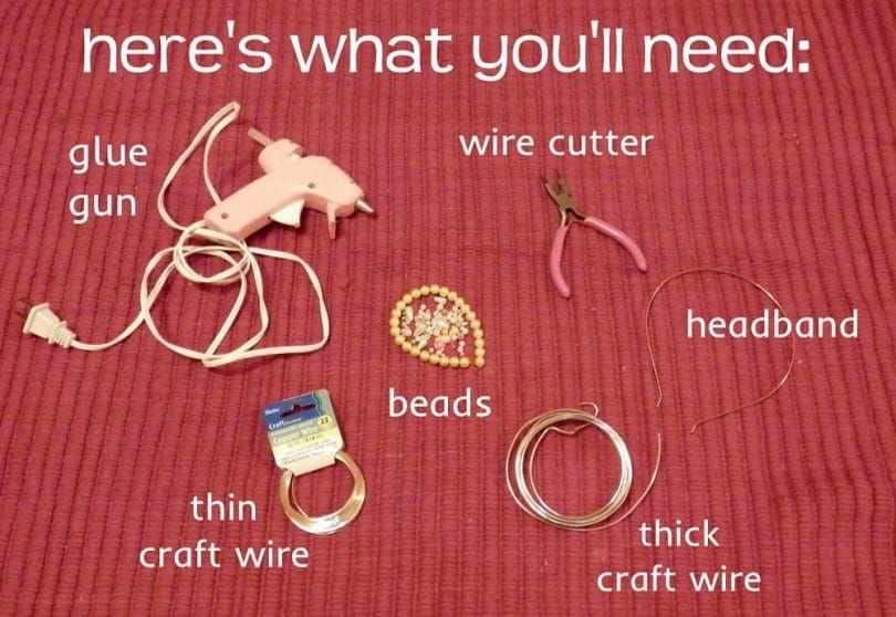 materiales y herramientas de la venda del perrito