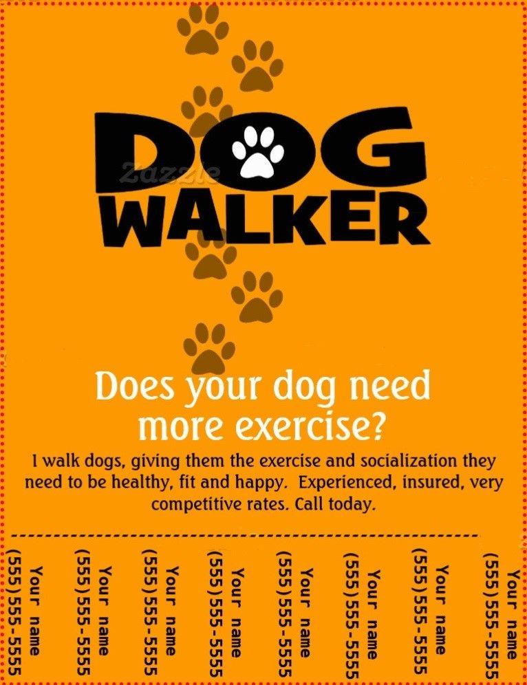 cartel paseador de perros