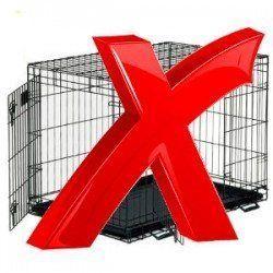 Cuando no utilizar un cajón - cruz roja grande sobre un cajón