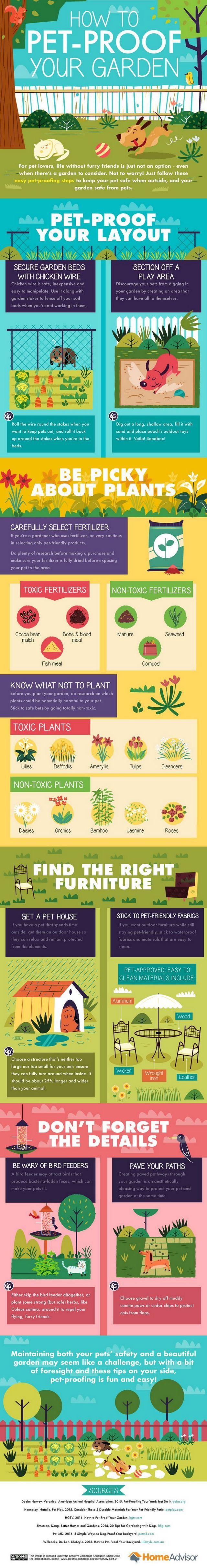 Infografía: cómo acariciar a prueba su jardín