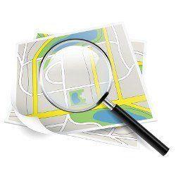 Una lupa animada realizada sobre un mapa