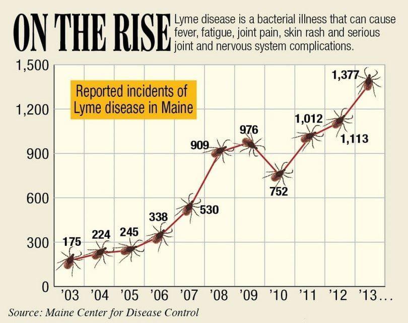 grafic la enfermedad de Lyme