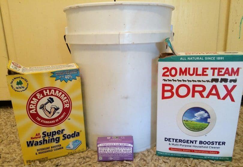 Soda de lavado y bórax