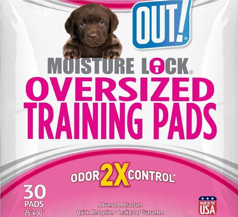¡FUERA! Petcare humedad de bloqueo 30-Pack Dog Pads, X-Large