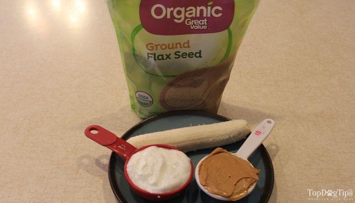 Mantequilla de cacahuete y plátano congelado Perro Receta Treat
