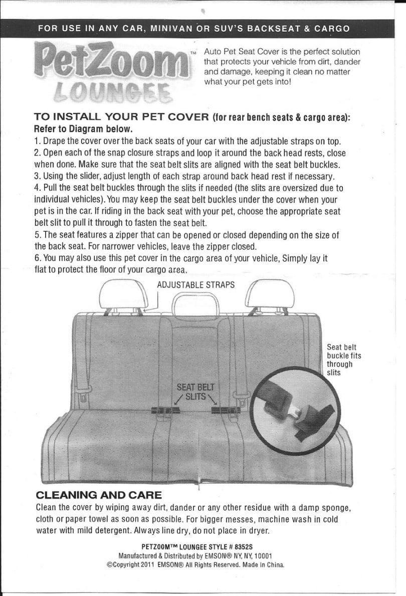 asiento de coche manual para el perro
