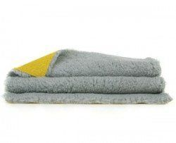 imagen de la ropa de cama vetbed en gris con capa de base de color amarillo