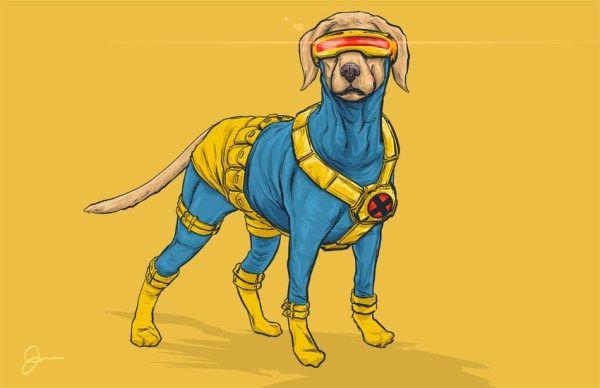 Sus perros favoritos - en forma de superhéroes!